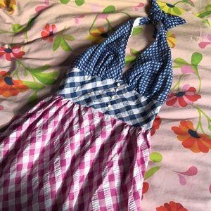 Vintage gingham maxi dress